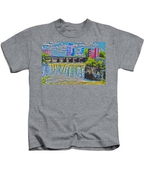 Rochester High Falls Kids T-Shirt