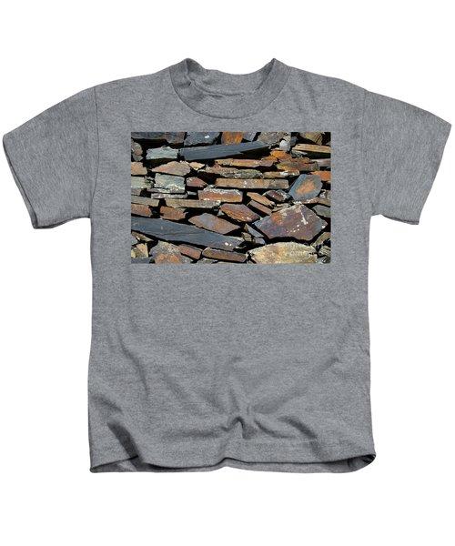Rock Wall Of Slate Kids T-Shirt