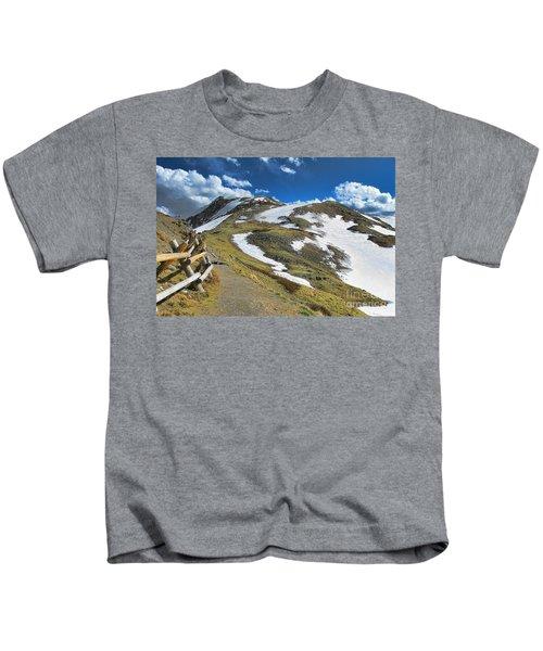 Rocky Mountains Path Kids T-Shirt