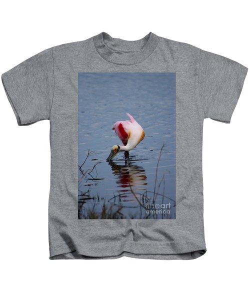 Roseate Spoonbill Twist Kids T-Shirt