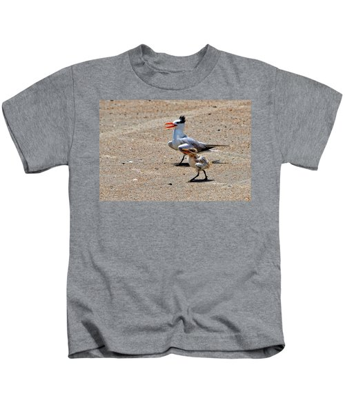 Royal Tern With Chick Kids T-Shirt