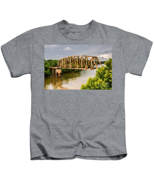 Rusty Old Railroad Bridge Kids T-Shirt