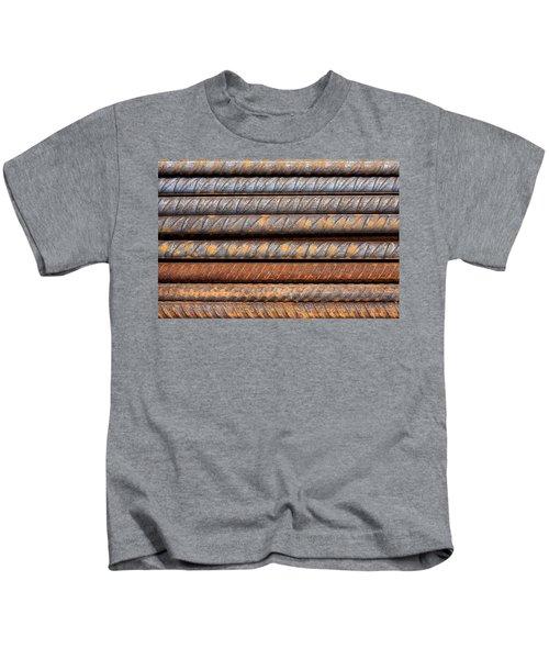 Rusty Rebar Rods Metallic Pattern Kids T-Shirt