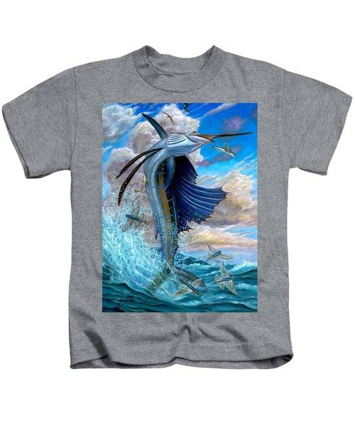 Sailfish And Flying Fish Kids T-Shirt