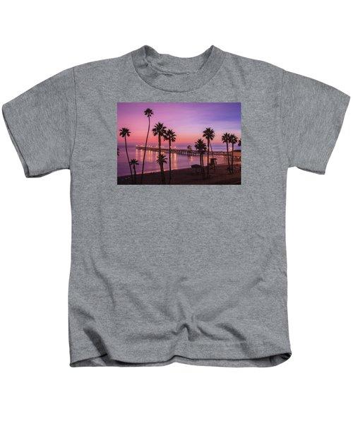 San Clemente Sunset Meditation Kids T-Shirt