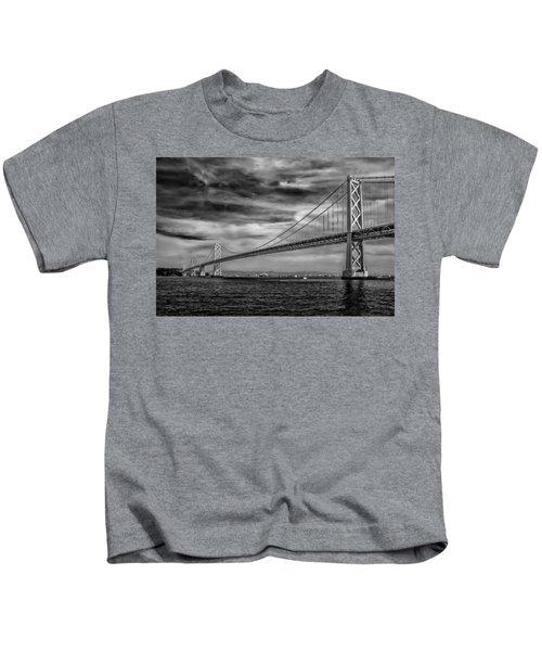 San Francisco - Oakland Bay Bridge Kids T-Shirt
