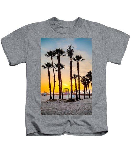 Santa Monica Palms Kids T-Shirt