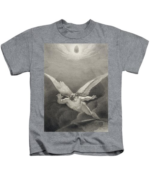 Satan Leaps Over The Walls Of Heaven Kids T-Shirt