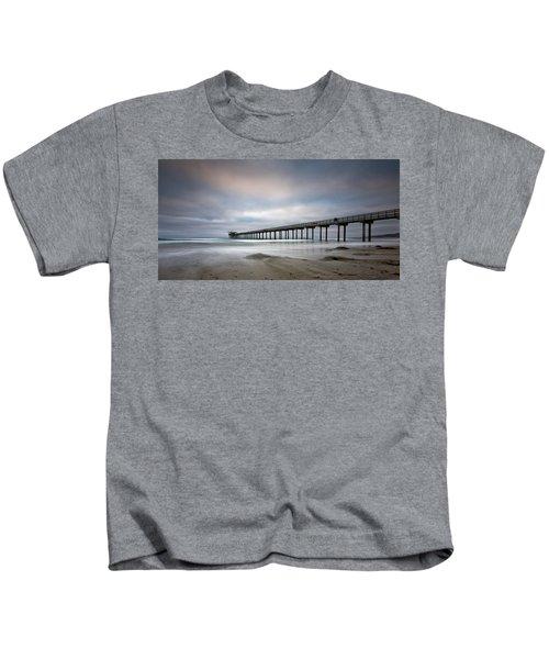 Scripps Pier Wide -lrg Print Kids T-Shirt