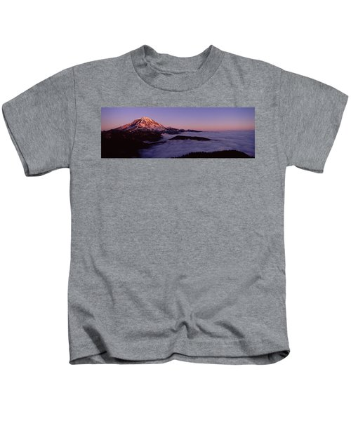 Sea Of Clouds With Mountains Kids T-Shirt