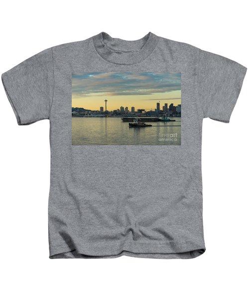 Seattles Working Harbor Kids T-Shirt