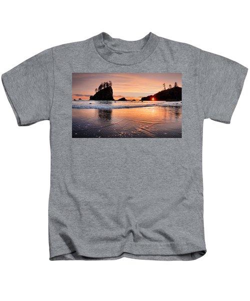 Second Beach Sunset Kids T-Shirt