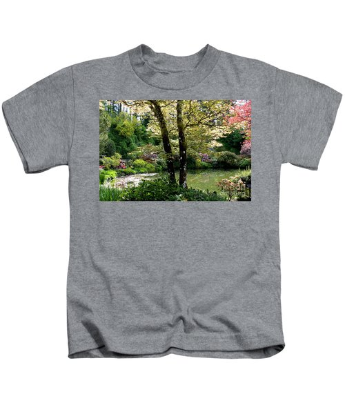 Serene Garden Retreat Kids T-Shirt