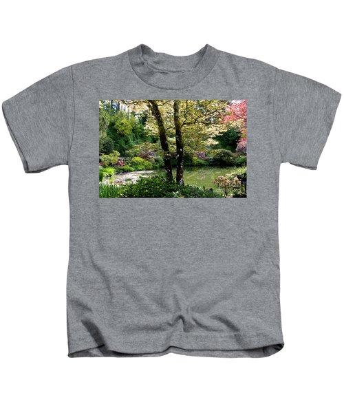 Serene Garden Retreat Kids T-Shirt