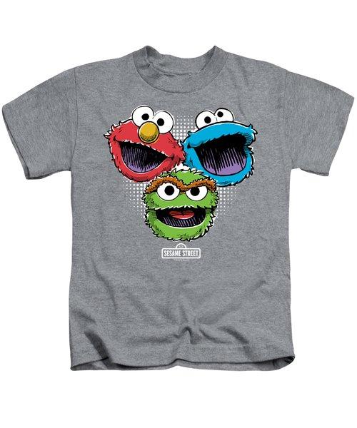 Sesame Street - Halftone Heads Kids T-Shirt