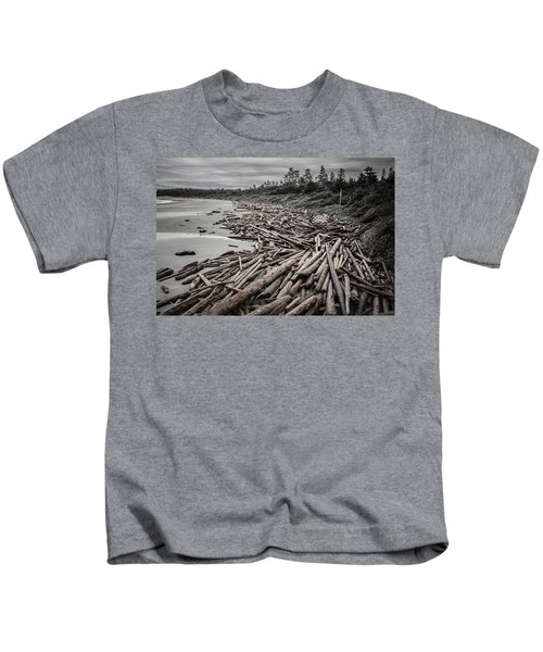 Shoved Ashore Driftwood  Kids T-Shirt