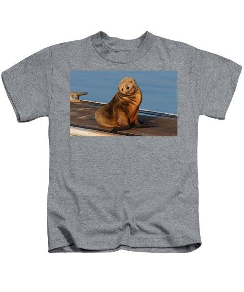 Shy Sea Lion Pup  Kids T-Shirt