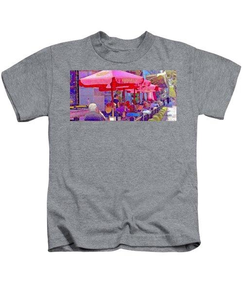Sidewalk Cafe Digital Painting Kids T-Shirt