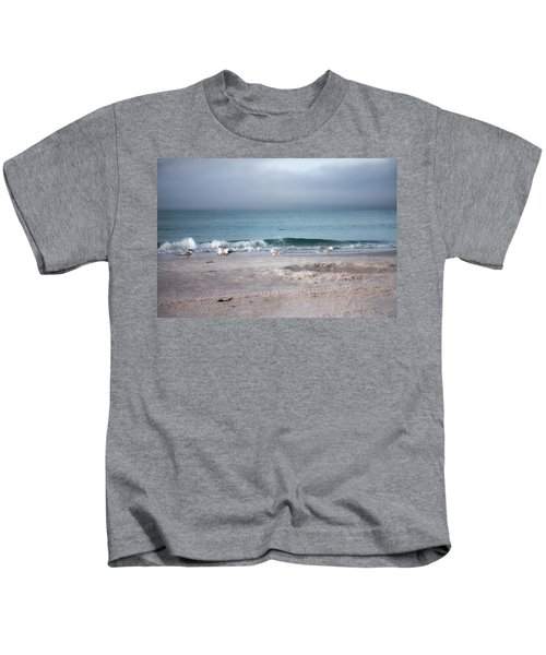 Siesta Key Morning Gulls Kids T-Shirt