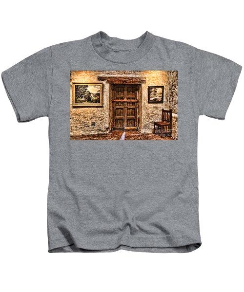 Sitting By The Door By Diana Sainz Kids T-Shirt