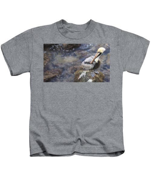 Sitting On A Rock In The Bay Kids T-Shirt