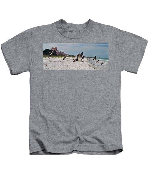 Black Skimmers At Don Cesar Kids T-Shirt