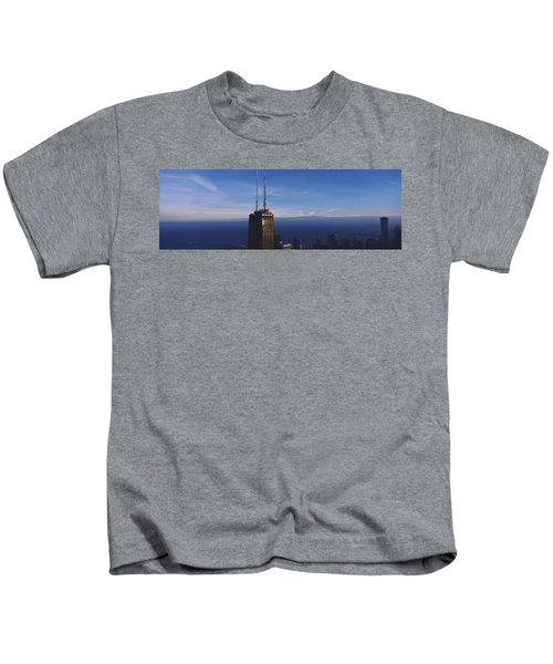 Skyscrapers In A City, Hancock Kids T-Shirt by Panoramic Images
