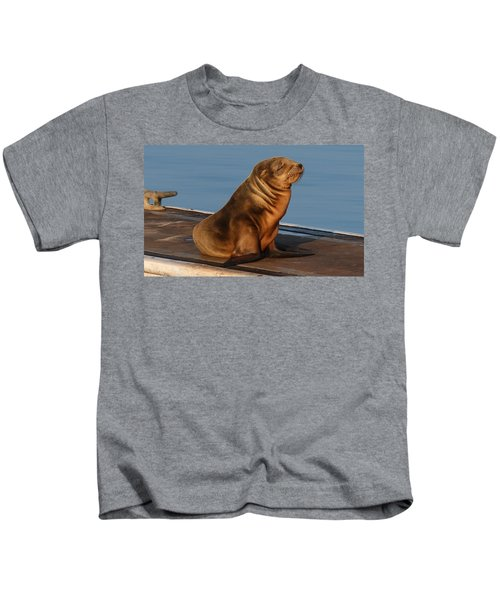 Sleeping Wild Sea Lion Pup  Kids T-Shirt