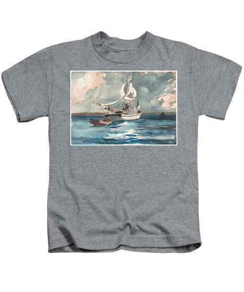 Sloop  Nassau Bahamas Kids T-Shirt