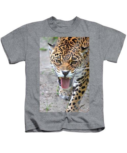 Snarling Jaguar: Growling Kids T-Shirts