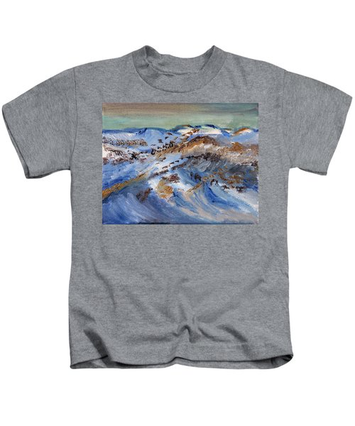 Snow Covered Sand Dunes Of Cape Cod Kids T-Shirt