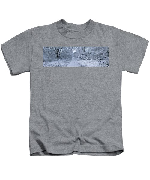 Snow Covered Trees In A Park, Hampstead Kids T-Shirt