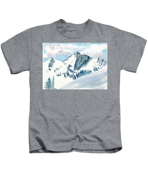 Snowy Wasatch Peak Kids T-Shirt