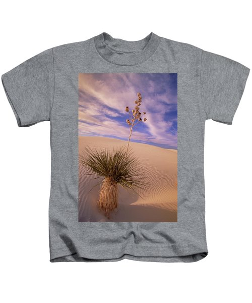 Soaptree Yucca  On Dune White Sands Kids T-Shirt
