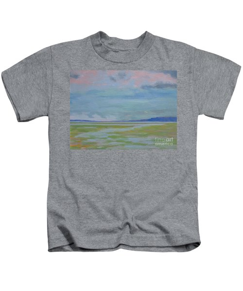 Spring Rain At Lake Jackson Kids T-Shirt