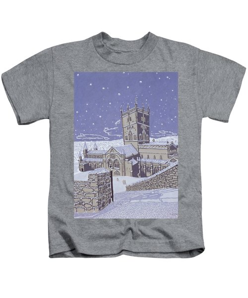 St David S Cathedral In The Snow Kids T-Shirt
