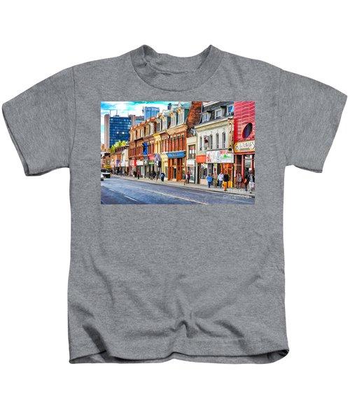 Yonge Street In Toronto Kids T-Shirt