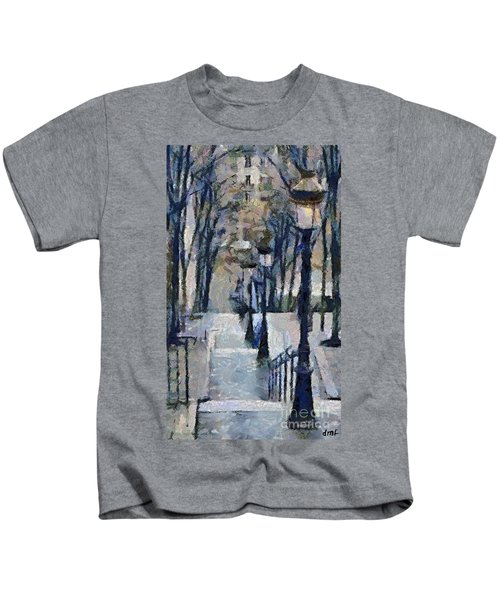 Stairs With Lamps Kids T-Shirt