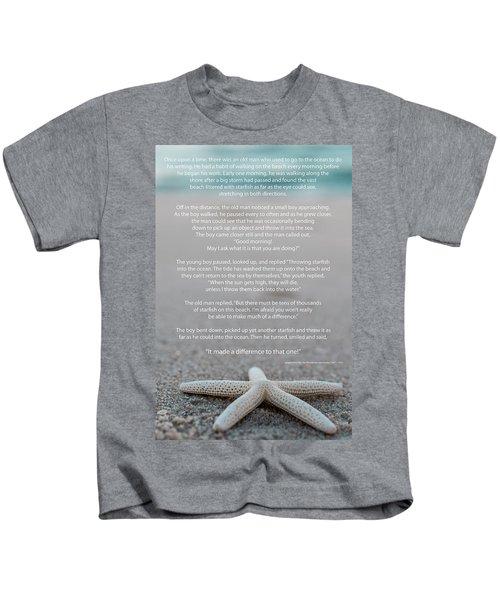 Starfish Make A Difference  Kids T-Shirt