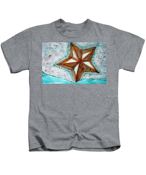 Starfish On The Beach Alcohol Inks Kids T-Shirt