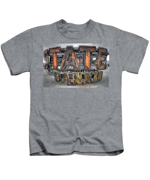 State Bank Sign Kids T-Shirt