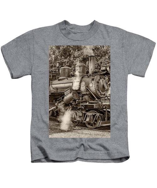 Steam Power Sepia Kids T-Shirt