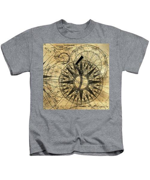Steampunk Gold Compass Kids T-Shirt
