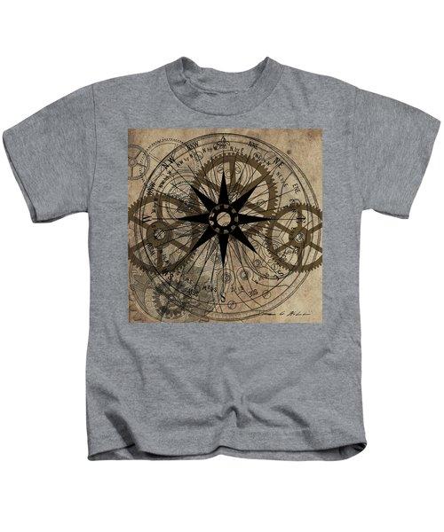 Steampunk Gold Gears II  Kids T-Shirt