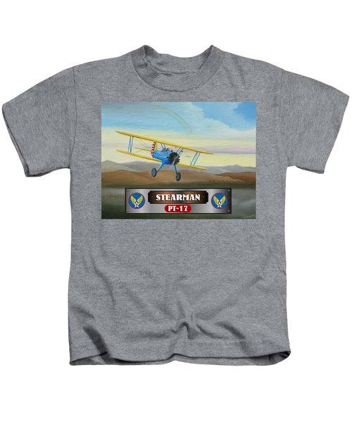 Stearman Pt-17 Kids T-Shirt
