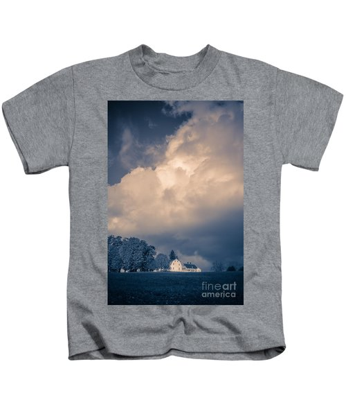 Storm Coming To The Old Farm Kids T-Shirt