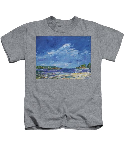 Stormy Day At Picnic Island Kids T-Shirt