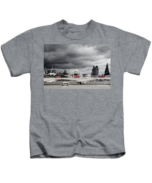 Stormy Skies Over London Kids T-Shirt