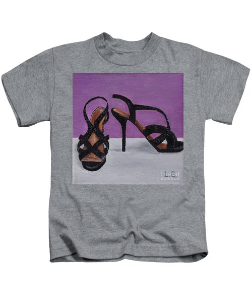 Strappy Black Heels For Maddy Kids T-Shirt