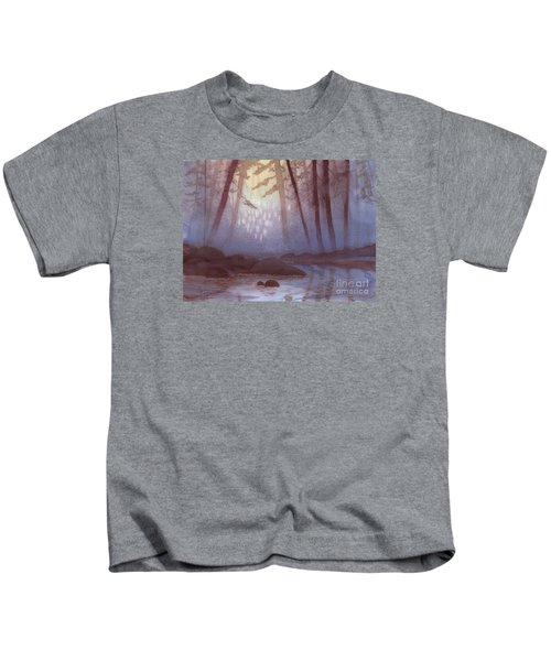 Stream In Mist Kids T-Shirt